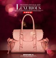 free shipping  2013 new bowknot bag women leather handbag women messenger bag fashion shoulder bag leather shoulder bag handbags
