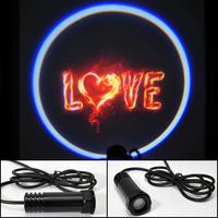 Car LED door light Love Shadow Light LOGO door prejection Free HK Post