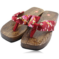 Summer clogs flip flops fashion pattee foot wrapping kimono clogs slippers cosplay clogs female slippers
