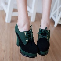 Free shipping / 2013 autumn new high-heeled shoes , Korean version of the British soft-skinned shoes