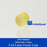 Free Shipping USA ZnSe Material Co2 laser focus lens Dia20-FL38.1mm