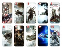 new skin design ASSASSIN'S CREED 3 club case hard back cover for iphone 5 5th 10PCS/lot+free shipping