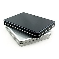 A5 big tin flat 8 protection box big gift box storage tin