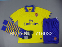 Arsenal Away Jersey 2013/14,Thai Fans Version.Embro Logo,Jersey +shorts+sock .Free Shipping