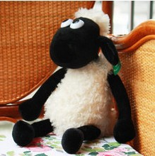 35cm--very cute NICI sheep creative plush toy stuffed toy doll Shaun sheep Cute Shaun the sheep lamb free shipping(China (Mainland))