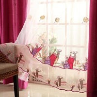 Window screening cartoon child real curtain shade cloth princess bedroom curtain girl