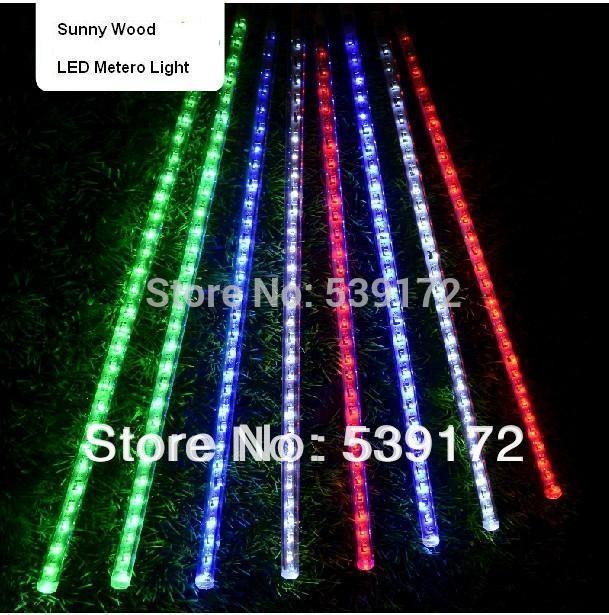 Free Shipping by Fedex LED meteor light Green, LED falling star mini type led christmas lights outdoor 30LEDs/pc 8pcs/set(China (Mainland))