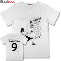 Ares Batistuta Argentina  Florence short-sleeve football t-shirt jersey hero- Batistuta