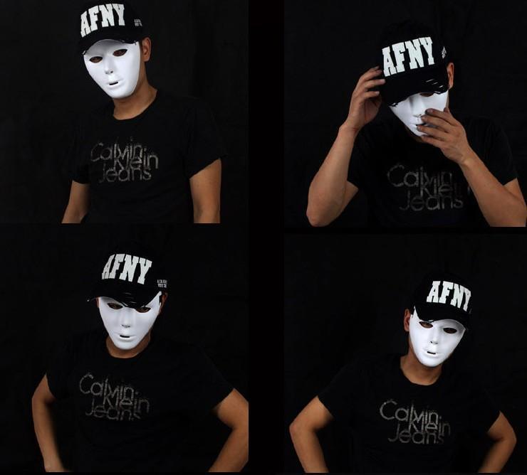 jabbawockeez PVC pure white mask masquerade party masks halloween hip-hop male and female masks DIY mask 50pcs/lot(China (Mainland))