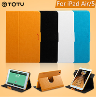 Totu  for apple    for ipad   air smart case protective case ipad5 holsteins rotating ultra-thin