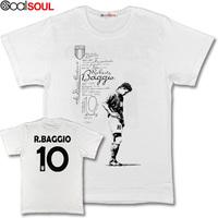 Roberto Baggio Italy short-sleeved T-shirt football jersey Juventus Inter Milan