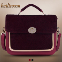 2013 women's fur handbag fashion brief fashion imitation mink horsehair bag cross-body handbag