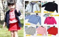 new 2013 retail fashion children sweaters cardigan polo brands sweaters kids outwear clothing boys girls jackets supernova sale