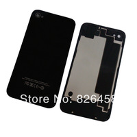 Hot Sell  Glass Battery  back door Cover case door Back Housing for Iphone 4 4G Replacement Spare Part free shipping