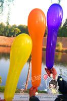 Thickening bobbins balloon pole balloon stick balloon long balloon balloon