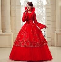 Free Shipping  winter  New Wedding Dresses 100% Guarantee Satisfaction
