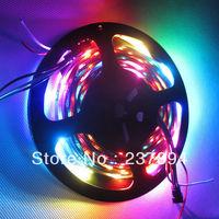 Magic Dream Color 5M 150LEDS  5050 RGB LED Strip Light  WS2812B WS2811 Individual Addressable Non-waterproof 5V DC free shipping
