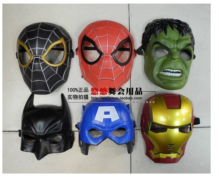 los vengadores csoplay los superhéroes de capitán américa iron man hulk spiderman batman máscara casco para los niños de cumpleaños regalos de navidad