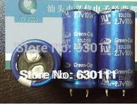 Free Shipping! 10pcS  high quality 2.7V  100F 2.7V100F 22*45MM Super capacitor / farad capacitor