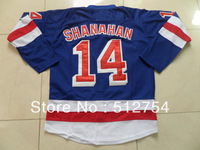 Free Shipping,Wholesale Ice Hockey Jersey, #14 Shanahan Hockey jersey,Embroidery logos,size 48-56,mix order