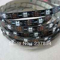 5M 150 LEDS black PCB  5050 RGB LED Strip Light non-waterproof Magic Dream Color WS2812B WS2811 Individual Addressable  5V DC