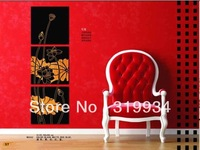 XG005 wood decorative panels ,square ,three picture combination ,white &yellow color ,high-end decoration