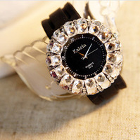 2014 78 Big dial Dress Wrist Quartz watch Quartz watches crystal lady girl strap wholesale new free shipping brand casual gift