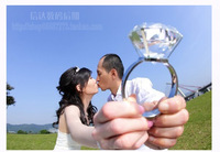 Photo props diamond ring artificial diamond ring ultralarge 8cm diamond ring