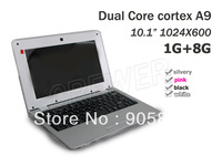 "10.1"" Inch Android 4.2 Russian Keyboard mini Laptop 1GB RAM 8GB ROM  Dual Core 1.5GHZ Netbook WIFI Camera NEW YEAR GIFT"