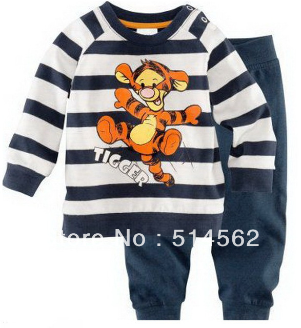 6stes/lot 2013 NEW Brand Children Clothing Sets Cotton Baby boy Girls Pajamas Suit Desigh Full Sleeves Kids Clothes RF01 m044(China (Mainland))