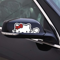 Free shipping New style HELLO KITTY  the car rearview mirror decoration accessories stickers for subaru xv and so on