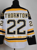 Free Shipping,Wholesale Ice Hockey Jersey, #22 Shawn Thornton Hockey jersey,Embroidery logos,size 48-56,mix order