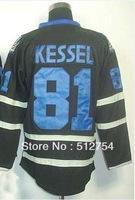 Free Shipping,Wholesale Ice Hockey Jersey, #81 Phil Kessel Ice Black Hockey jersey,Embroidery logos,size 48-56,mix order