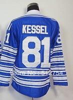 Free Shipping,Wholesale Ice Hockey Jersey, #81 Phil Kessel 2014 Winter Classic Hockey jersey,Embroidery logos,size 48-56