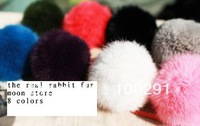10mm the real cabbit fur ball &hahahaha ( 50pcs/lot MOON store 883e high quality ) free shipping 111