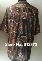 Free Shipping!! #1  Cam Newton Camouflage Camo Speciation jersey  Embroidered logo( all name, numbers stitched )