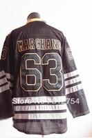 Free Shipping,Wholesale Ice Hockey Jersey, #63 Brad Marchand Ice Black Hockey jersey,Embroidery logos,size 48-56,mix order