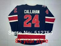 Free Shipping,Wholesale Ice Hockey Jersey, #24 Ryan Callahan Hockey jersey,Embroidery logos,size 48-56,mix order