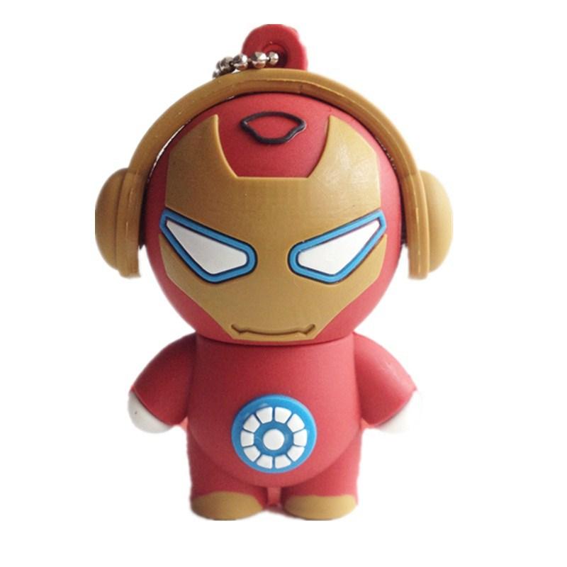 pen drive cartoon Iron man superman 4gb/8gb/16gb/32gb iron man usb flash drive flash memory stick pendrive gift free shipping(China (Mainland))