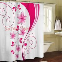 Jf1043 curtain terylene cloth printed shower curtain 180*180cm 12 end of a single