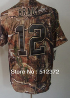 Free Shipping!! #12 Tom Brady Camouflage Camo Speciation jersey  Embroidered logo( all name, numbers stitched )