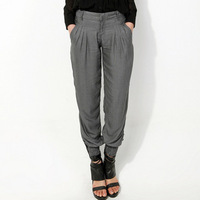 2013 high waist women's Skinny pencil pants Long Trousers OL casual pants large size plaid pants