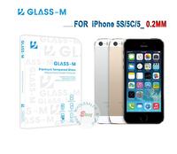0.2MM 5S Screen Protector! Original GLASS-M Tempered Glass Screen Protector For iPhone 5S And  For iPhone 5C. Free Shipping!