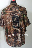 Free Shipping!! #9 Drew Brees Camouflage Camo Speciation jersey  Embroidered logo( all name, numbers stitched )