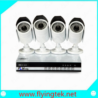 720P 1.0 Megapixel 4CH NVR System Onvif 25fps Network Outdoor IP Camera Kit