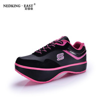 Free shipping 2013 female negative heel lumbar function shoes single shoes low-top shoes