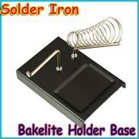 Free shipping+Soldering Solder Iron Metal Rectangle Stand Station Bakelite Holder Base