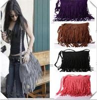 Fashion Tassel Faux Suede Shoulder Messenger Handbag Leather Women Zipper Luggage Shoulder Bags And Suitcases 2015 newly designs