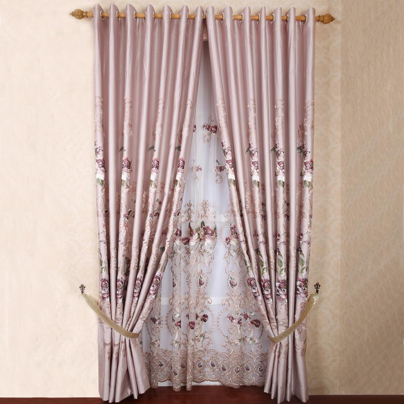 metros chinês moderno estilo novo qualidade clássica seleção da janela cortina de luxo faux seda bordada cortina de tecido(China (Mainland))