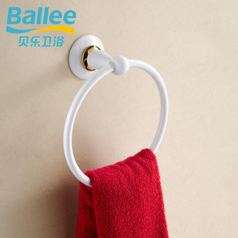 Baylor white paint bathroom copper towel ring bath towel bathroom hardware g2306(China (Mainland))